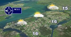 Weersvoorspelling 15 april. Bron: Omroep Flevoland
