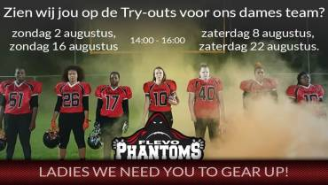 Try outs dames team